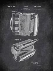 Accordion J Vassos 1938 Music by Patent