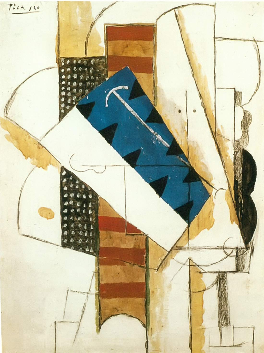 Head Of A Man 1913 Pablo Picasso