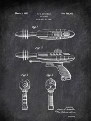 Toy Pistol G C Schaible Military by Patent