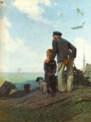 Looking Out To Sea by Norman Rockwell