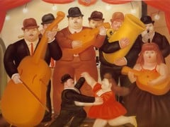 Dancing In Columbia by Botero