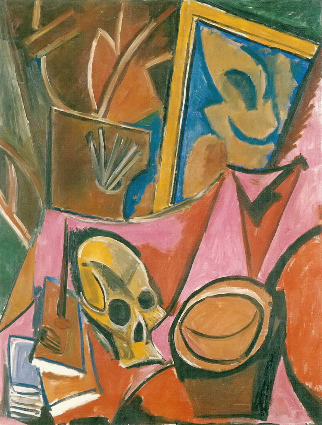 Composition With A Skull Pablo Picasso