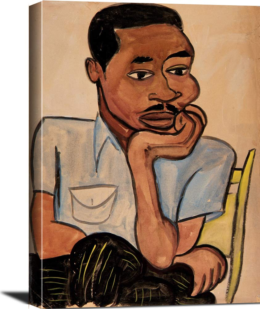Man In A Blue Shirt  Harry William H Johnson