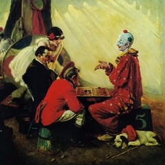 Playing Checkers by Norman Rockwell