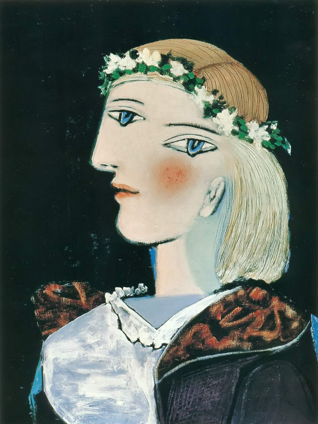 Marie Therese With A Garland Pablo Picasso