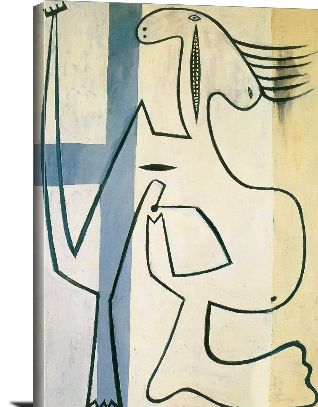 Nude On A White Background Pablo Picasso