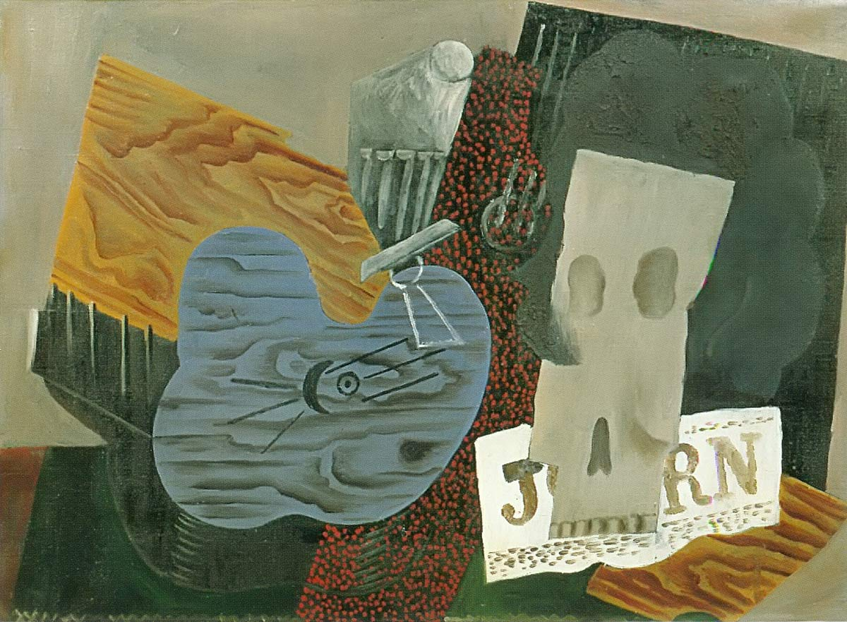 Guitar Skull And Newspaper Pablo Picasso