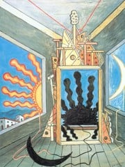 Metaphysical Interior With Extinguished Sun by Giorgio De Chirico