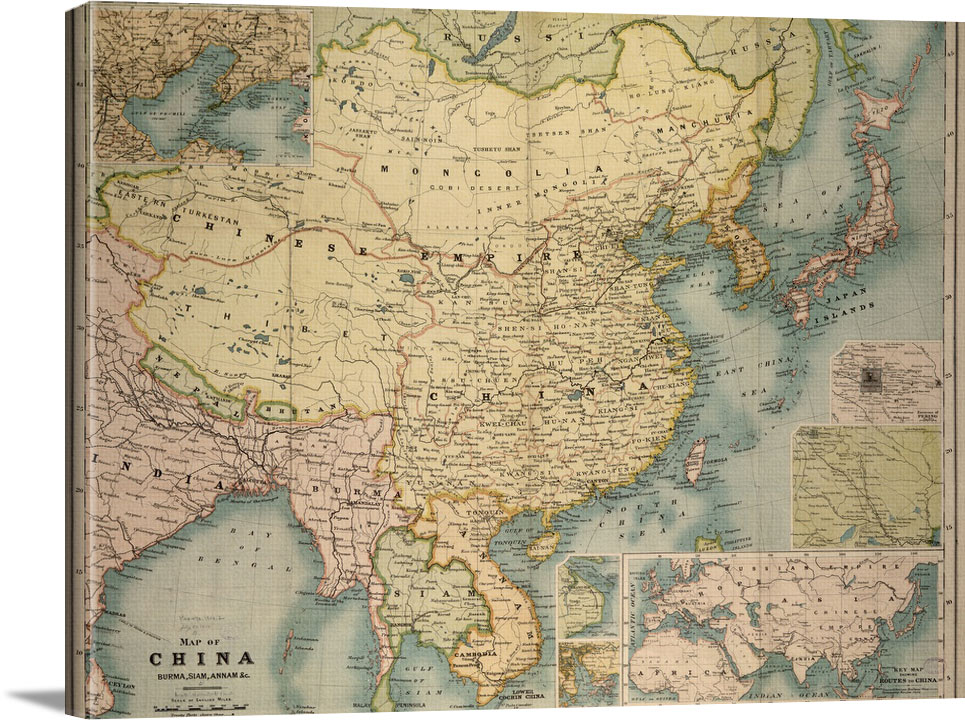Map Of China Ready - Vintage Asia Maps