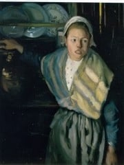 Breton Girl by Diego Rivera