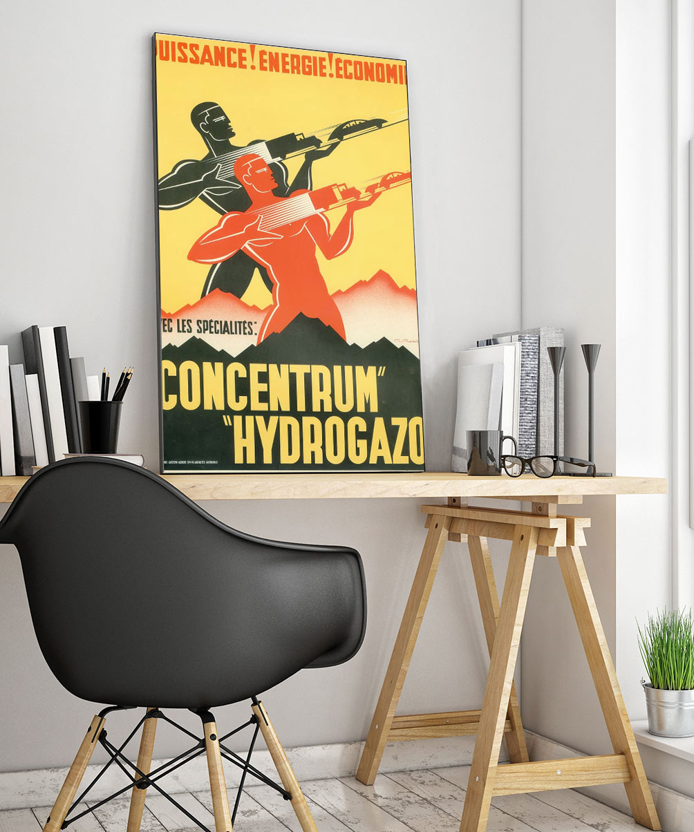 22industrial Art Deco Poster