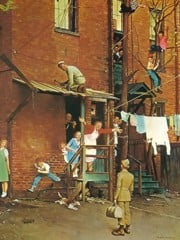 Homecoming G by Norman Rockwell