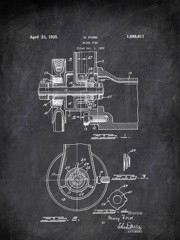 Water Pump H Ford 1935 Transportation by Patent