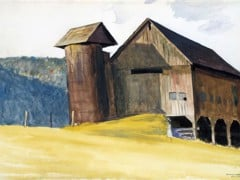 Barn And Silo Vermont by Edward Hopper