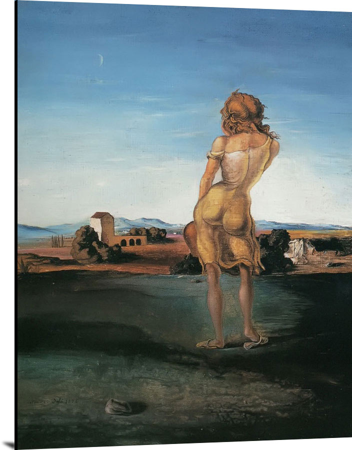 Girl With Curis by Dali