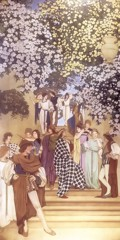 A Florentine Fete The Garden Of Opportunity by Maxfield Parrish