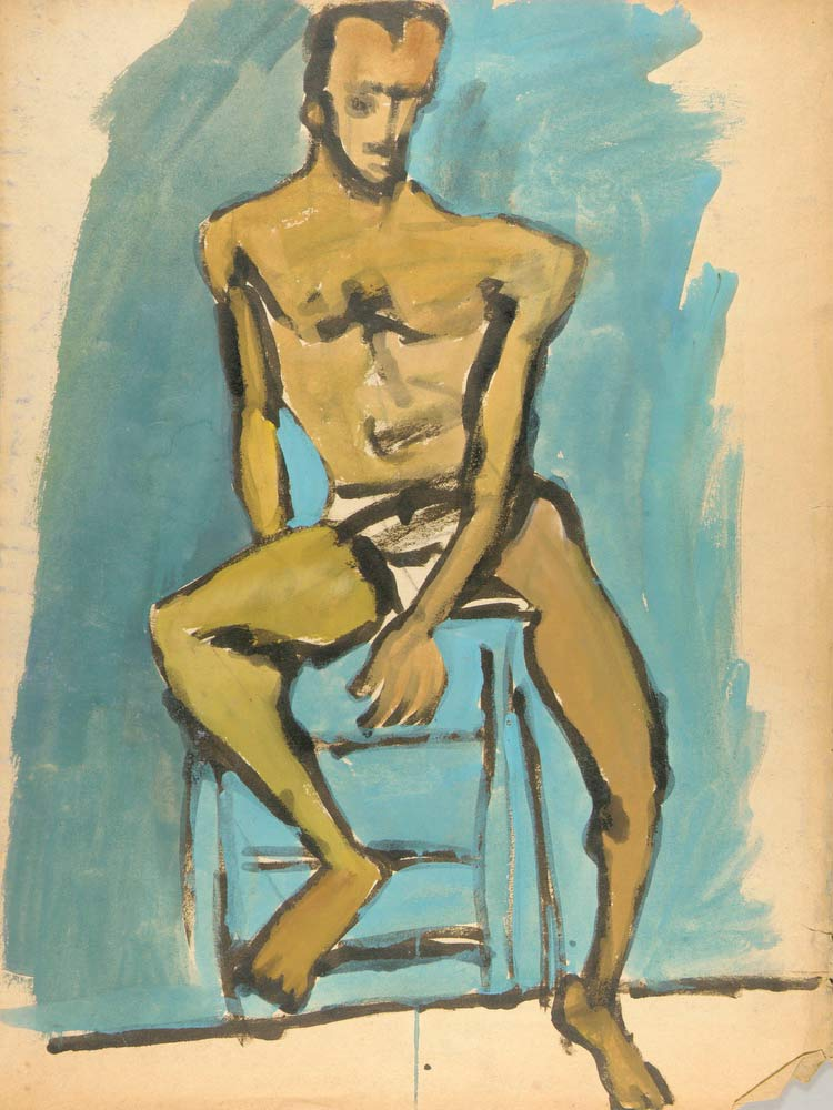 Male Model On Stool William H Johnson