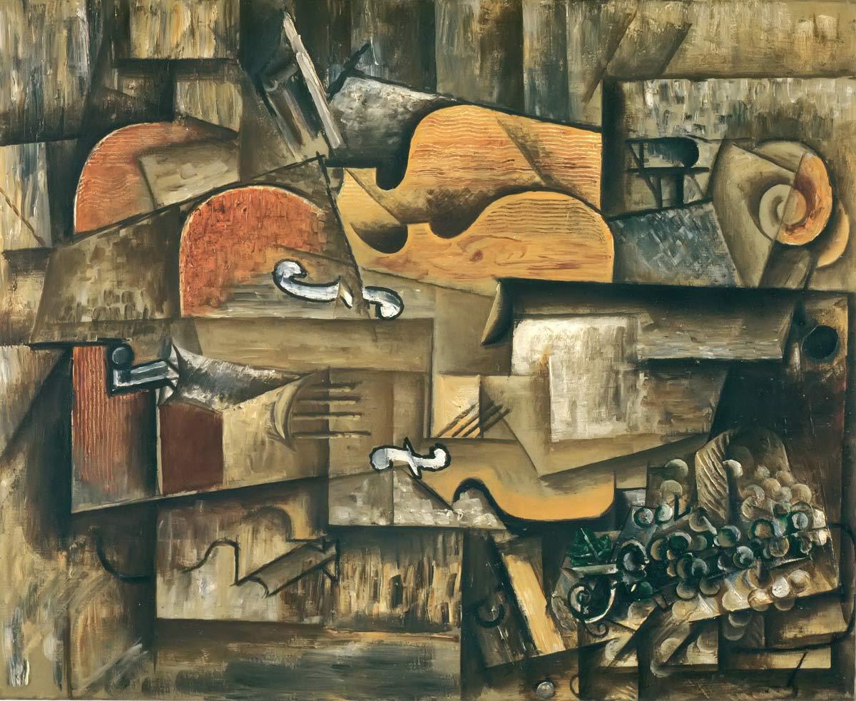 Violin And Grapes Pablo Picasso