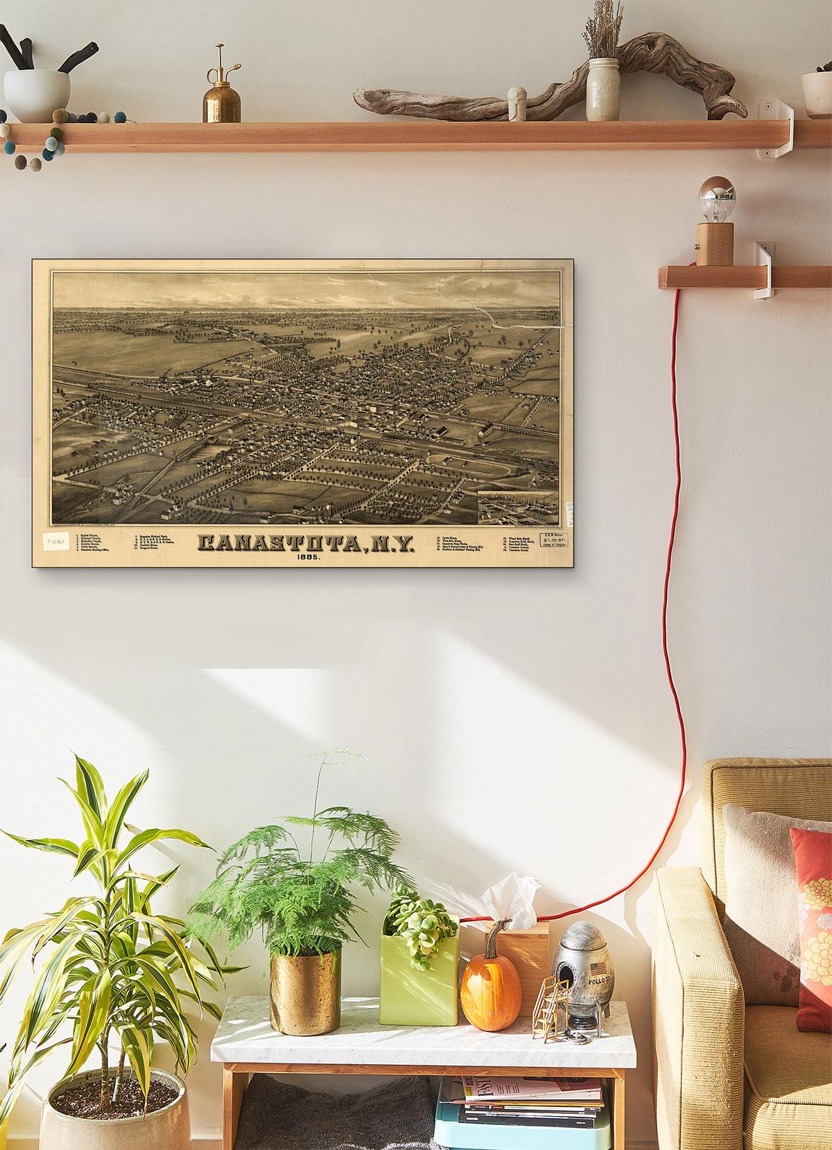 Canastota N.y 1885 LARGE Vintage Map