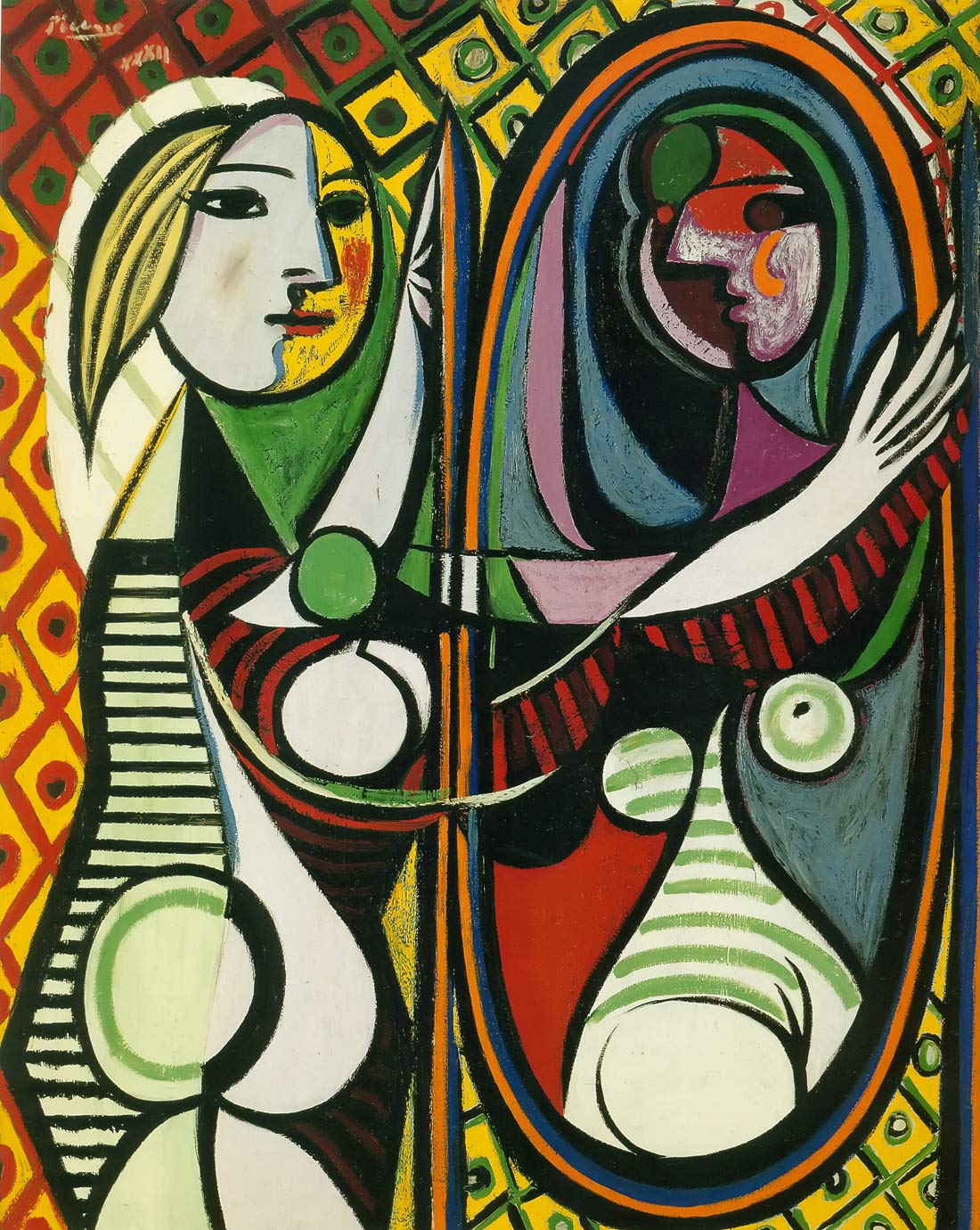 Girl Before A Mirror 1932 Pablo Picasso