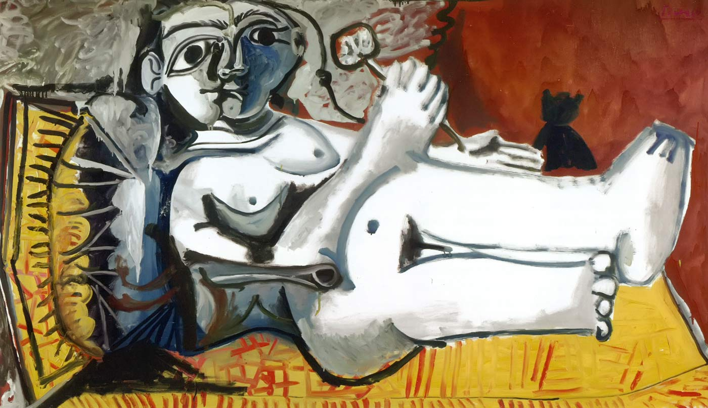 Reclining Nude With A Cat 1964 Pablo Picasso