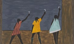 Migration Panel 58 In The North The Negro Had Better Educational Facilities by Jacob Lawrence