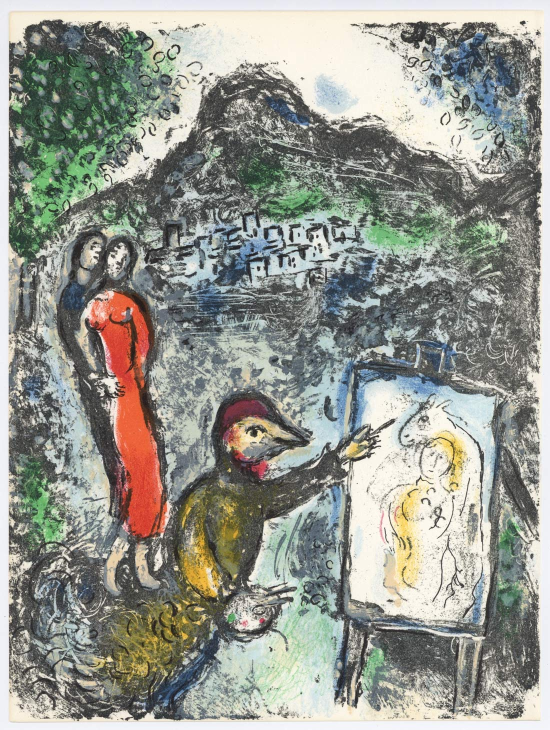 Devant Saint Jeannet Marc Chagall