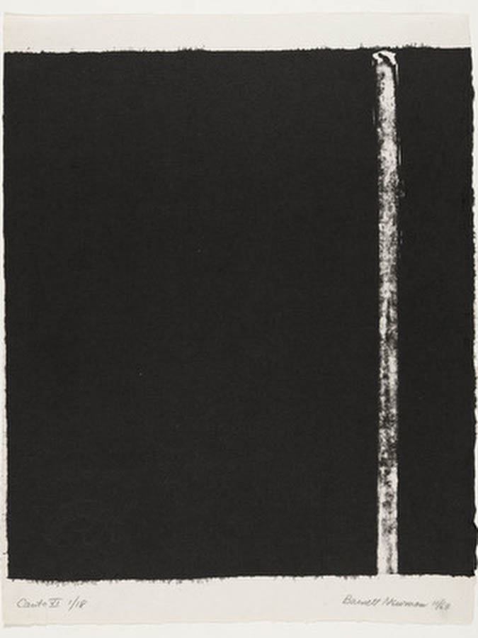 Canto Vi 1963 by Barnett Newman