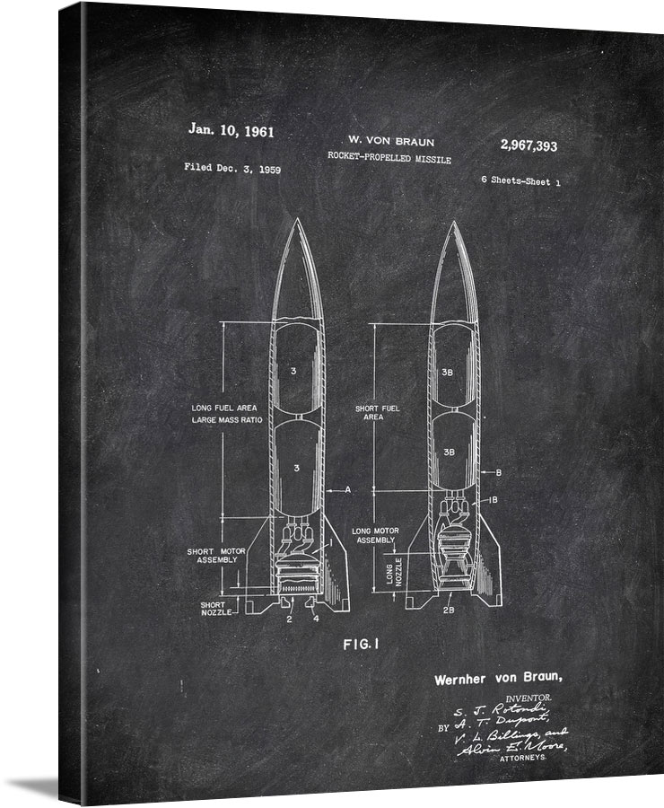 Rocket Profelled Missile Braun Military by Patent