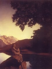 Girl By The Lake by Maxfield Parrish