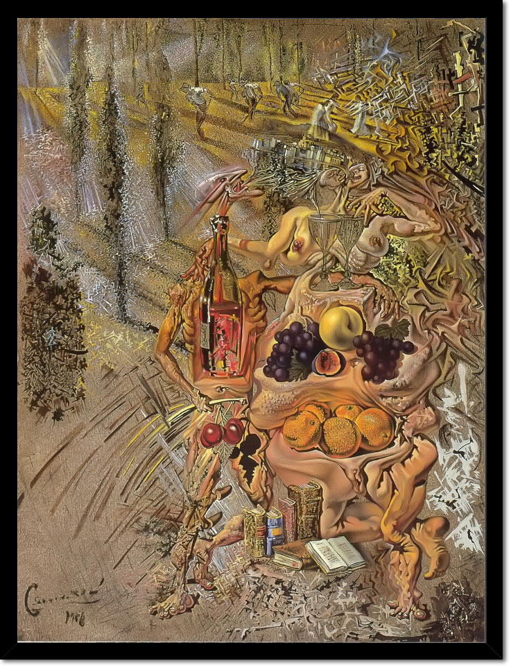 Dionysus Spitting The Complete Image Of Cadoques On The Tip Of The Tongue by Dali