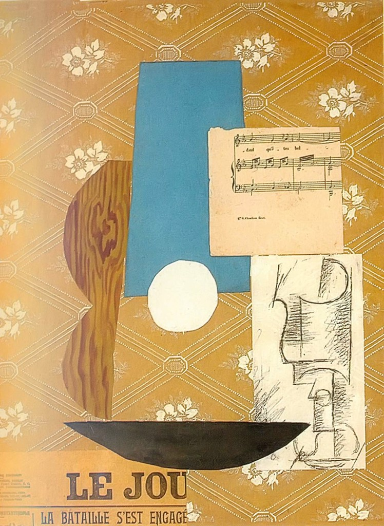 Guitar Sheet Music And Glass Pablo Picasso