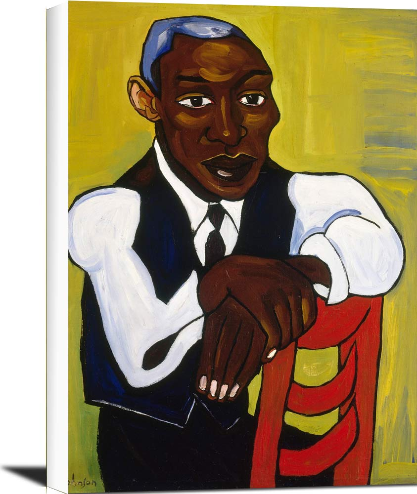 Man In A Vest William H Johnson