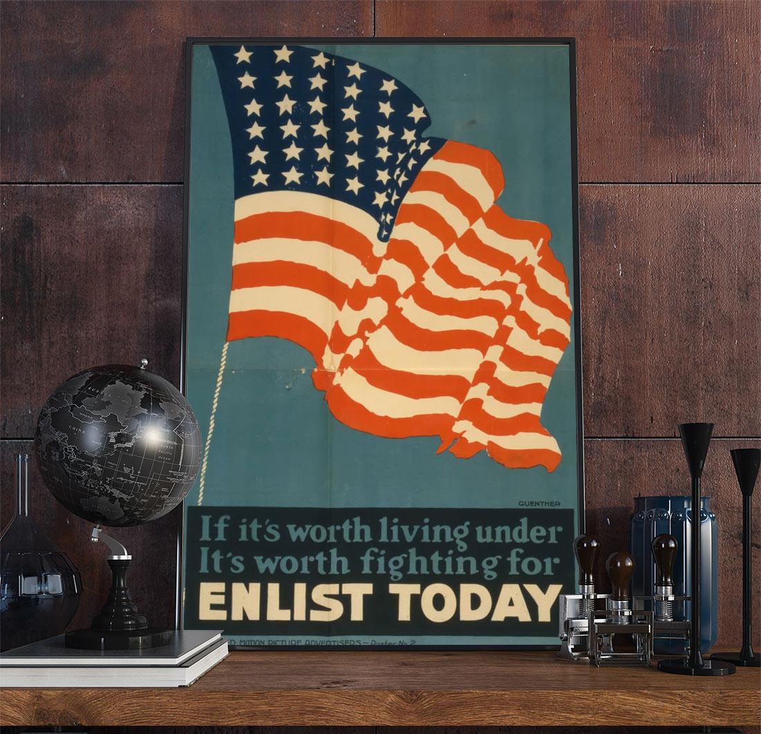 22wpamilitary Vintage Advertisement Poster