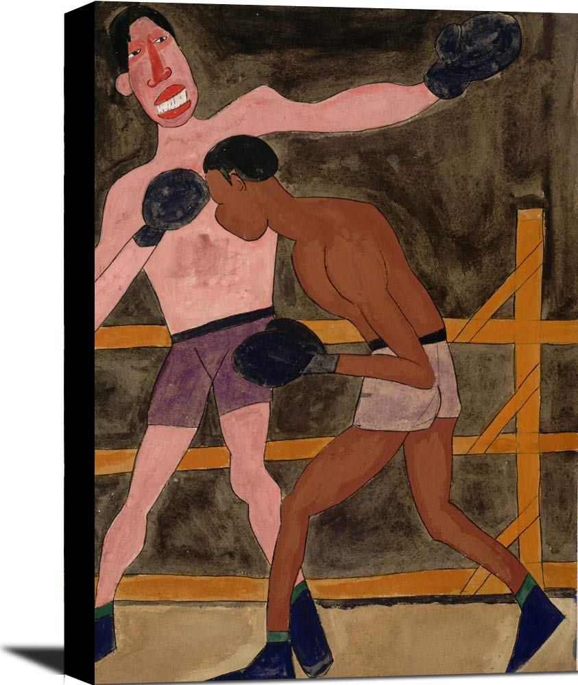 Joe Louis And Unidentified Boxer William H Johnson
