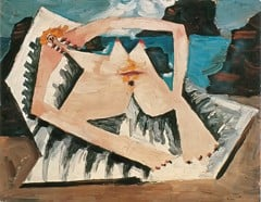 Bather Stretched Out On The Beach Pablo Picasso