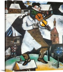 The Fiddler 1912 by Marc Chagall