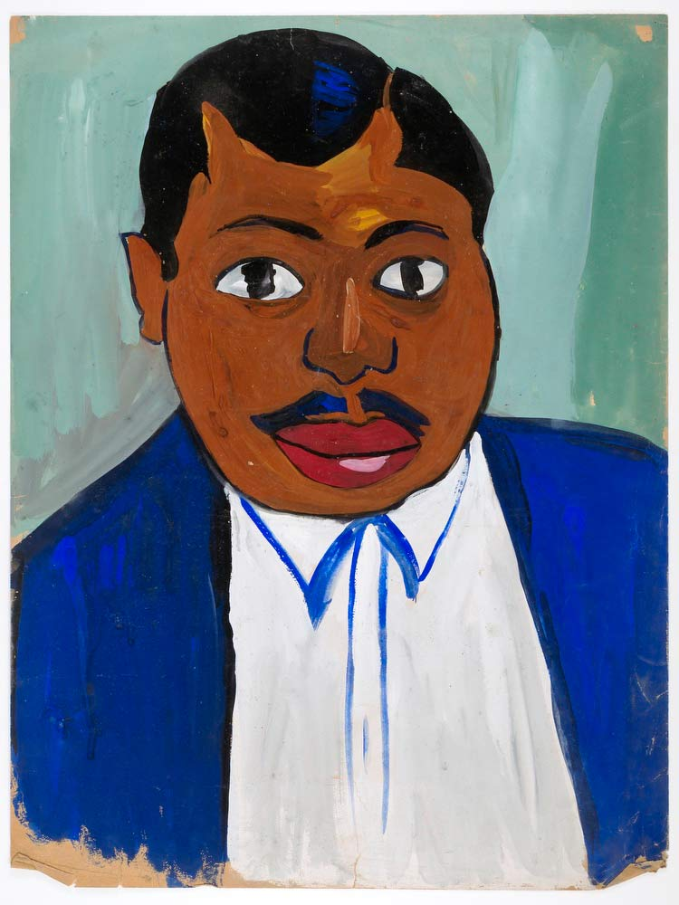 Portrait Of A Man With Mustache William H Johnson