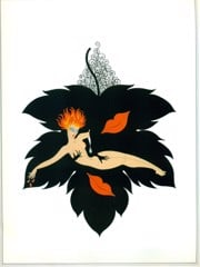 The Seven Deadly Sins Lust by Erte
