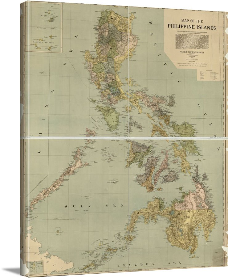 Map Of The Philippine Islands 1908 - Vintage Asia Maps