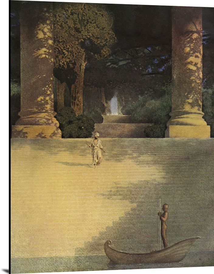 Prince Agib Illustration by Maxfield Parrish
