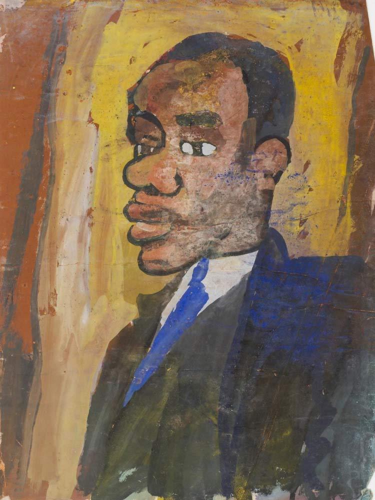 Man With Blue Necktie William H Johnson