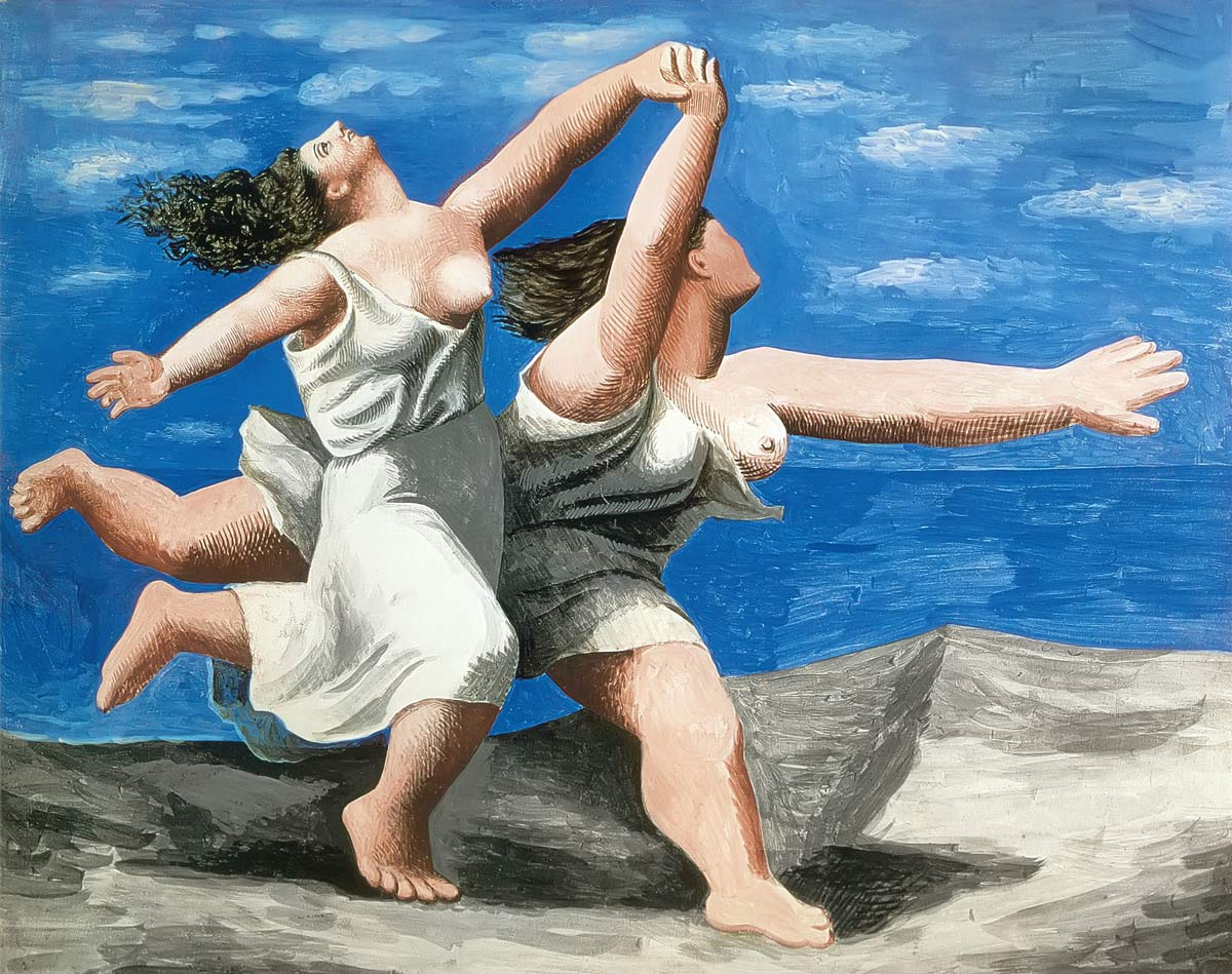 Two Women Running On The Beach Pablo Picasso
