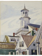 Methodist Church Tower by Edward Hopper