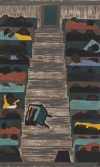 Migration Panel 6 The Trains Were Packed Continually With Migrants by Jacob Lawrence