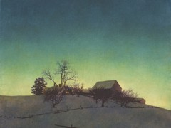 Freeman Farm Winter by Maxfield Parrish