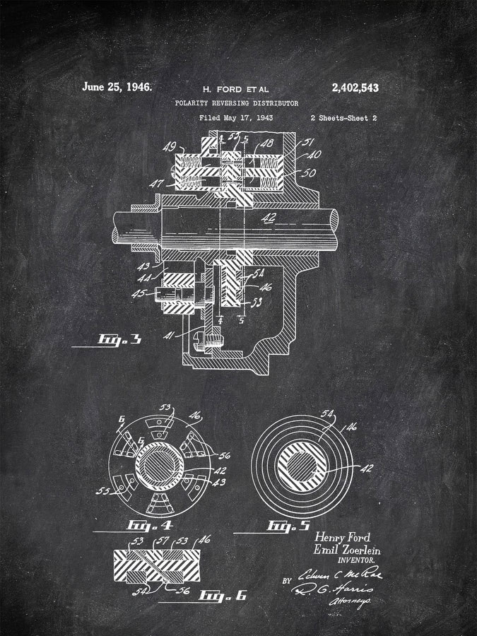 Polarityeversing Distributor H Ford Et Al 1946 Transportation by Patent