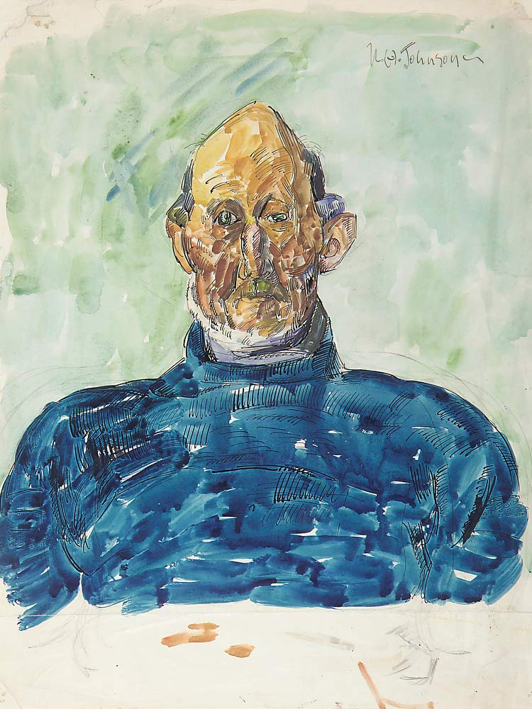 Portrait Of Jesper Anderson William H Johnson