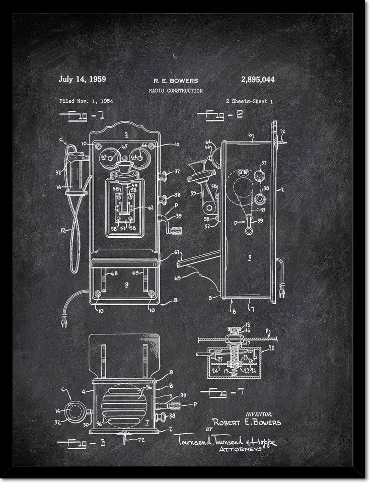 Radio Construction E Bowers 1959 Technology by Patent