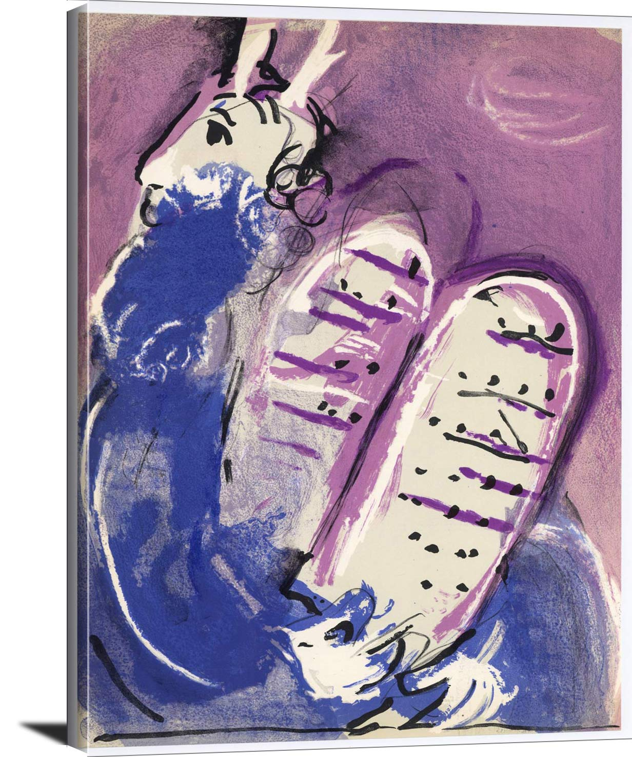Moses With The Tablets Of Law Marc Chagall